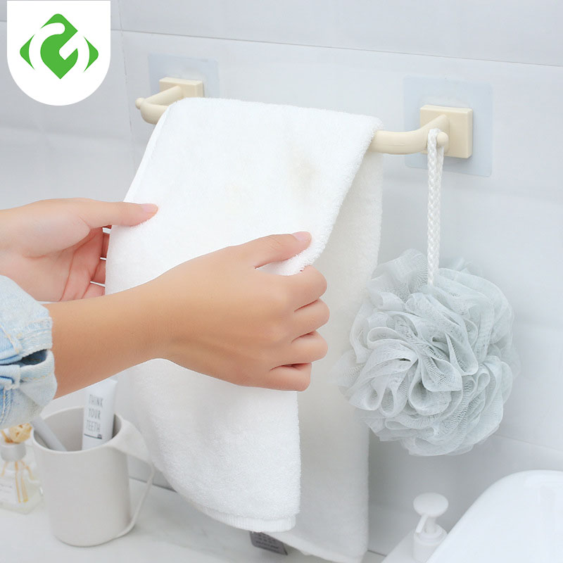 GUANYAO Viscose Type Plastic Towel Bar Not Damage The Wall Multi-purpose Bathroom Storage Rack Hand Towel Holder Towel Hanger