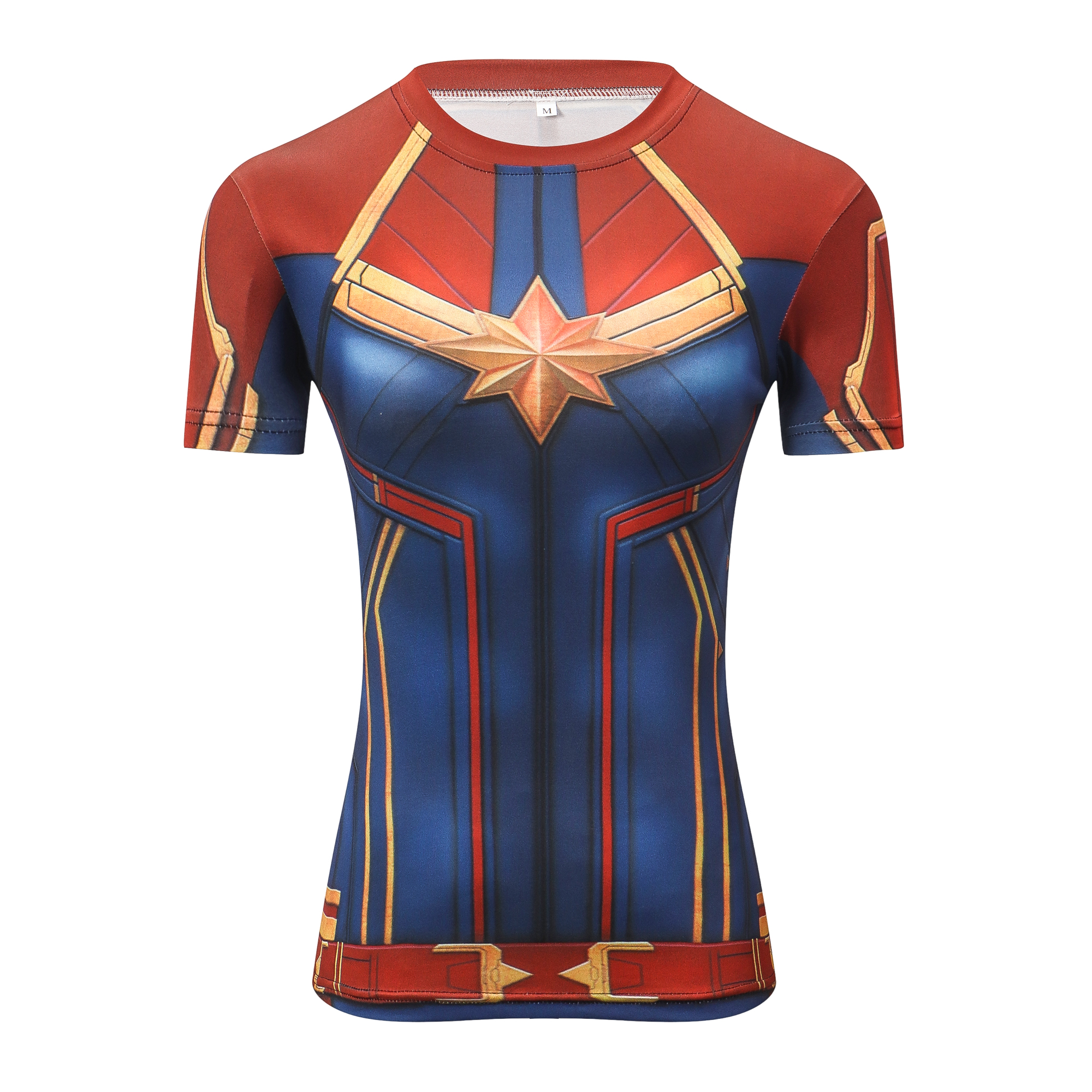 3D Superhero Marvel Compression T-shirt Short Sleeve Costume Jersey Muscle Tops