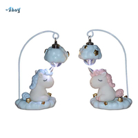 Creative Cartoon Kids Night Lights Unicorn Decoration Bedroom Blue/pink Unicorn Lamp for Makeup Table Children Room Holiday Gift