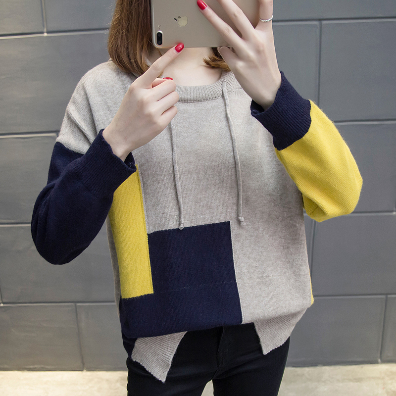 Women's Clothing Reasonable Women Knit Cloth Long-sleeved Turtleneck Sweater Casual Sweaters Cap Coat Knitwear Girl Loose Top Design Clothes Korean Fashion Sweaters
