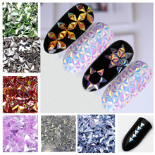 50g 3D Triangle Chunky Glitter Shapes Nail Art Metallic AB Unicorn Colors Craft ,HY240