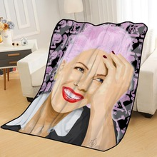 Blankets Throw Beds Diy-Your-Picture-Decoration Travel for Soft Bedroom Custom-P Personalized