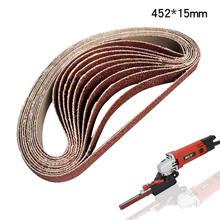 Шлифовальный станок 20 шт ремни для шлифования 15x452 мм угловой