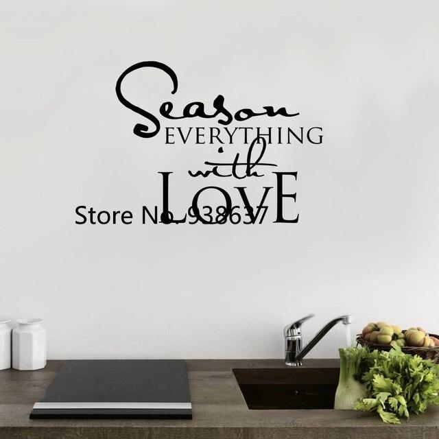 Cours Sticker Pour Cuisine Saison Tout Avec Amour Wall Sticker Home