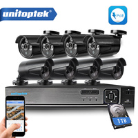 Plug And Play 8CH CCTV Camera System 1080P POE NVR With 1 0MP 720P POE IP