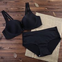 KL1153 Yeni varış seksi dalma strappy bra set moda çift omuz sapanlar bra kadın İç çamaşırı