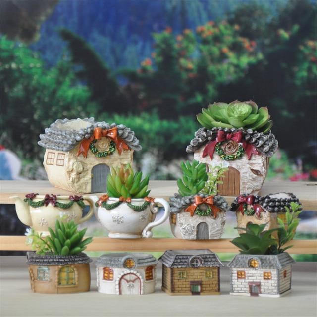 Contenitore bonsai regalo squisito desktop resina vaso di - Cerco piante da giardino in regalo ...