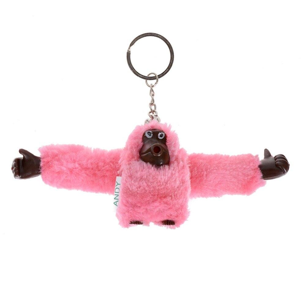 8 цветов модные 3D плюшевые брелок обезьянка милые животные подвеска брелок гориллы брелок для Для женщин Для мужчин сумки Интимные аксессуа...