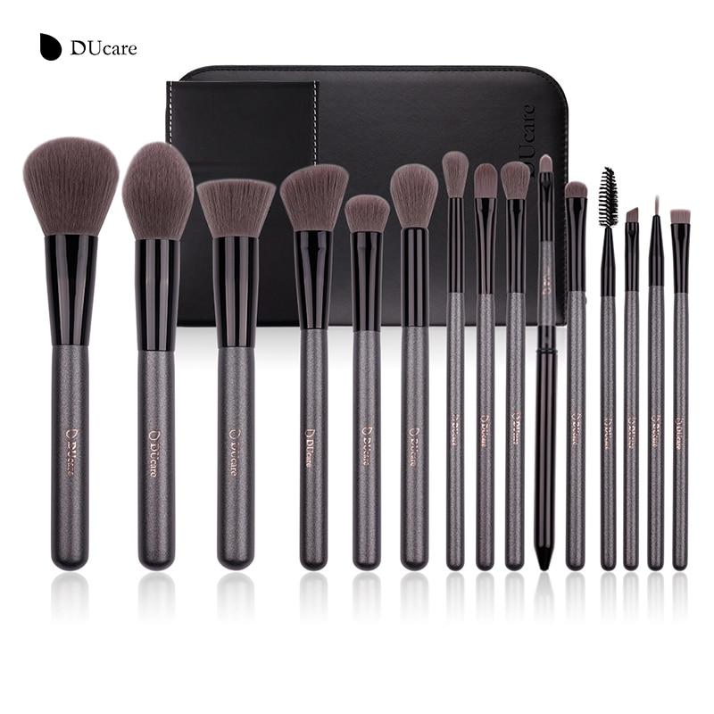 DUcare Makeup Brush Kit 15Pcs Professional Cosmetic Make up Brush Foundation Eyeshadow Eyeliner Brush pinceis maquiagem professional eye brush 15pcs