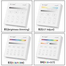 Mi light 2.4G B1/B2/B3/B4 4-Zone Brightness dimming/RGB/RGBW/CCT Smart Touch Panel led Dimmer Controller for led strip light