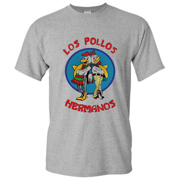 2019 Men's Fashion Breaking Bad Shirt  LOS POLLOS Hermanos T Shirt Chicken Brothers Short Sleeve Tee Hipster Hot Sale Tops 1