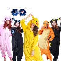 Lente Herfst Poke mon Pyjama Volwassen Kigu Unisex Cosplay Kostuum Pikachu fire dragon Umbreon pyjamas Animal Onesie pajama