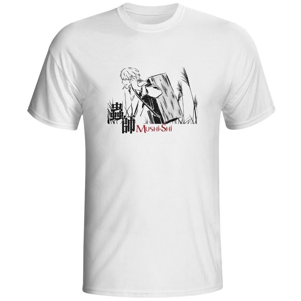 Mushi Master Ginko T Shirt Mushishi Anime Novelty Punk Funny T-shirt Cool Hip Hop Rock Unisex Tee