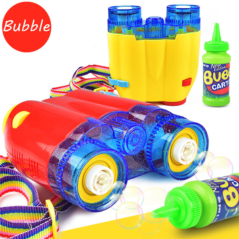 Bubble gun Water Blowing ToysFlashing Light Up Music Automatic Bubble Blower Telescope Bub