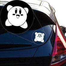 Yoonek Graphics Kirby Vinyl Decal Sticker # 851 (4 x 4, White)