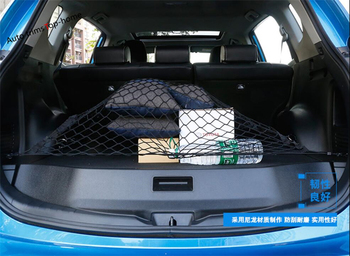 Yimaautotrims Elastic Rear Back Cargo Trunk Storage Organizer Luggage Net Holder Cover Kit Fit For Toyota Rav4 Rav 4 2015 - 2018 image