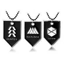 Destiny fate professional logo necklace pendant black 3 style high quality men and women accessories(China)