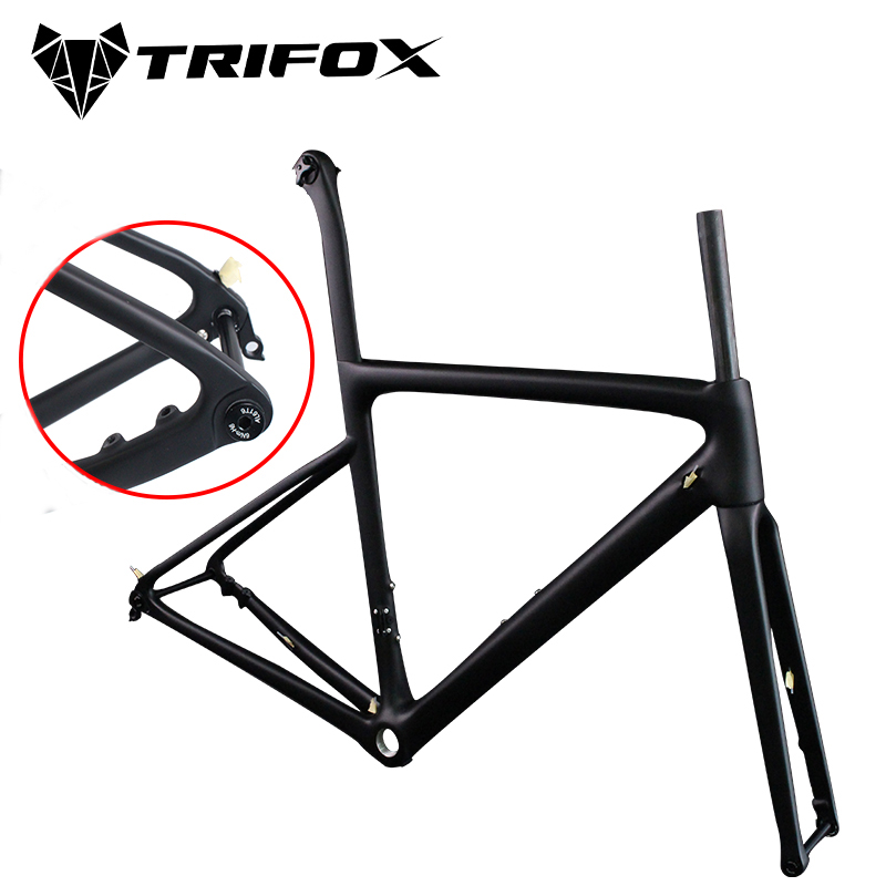 2019 Colnago Disc Brake Carbon Road Bike Frame UD Black Carbon Thru Axle Rear Derailleur 142x12 Front 100x12mm Racing Bike Frame