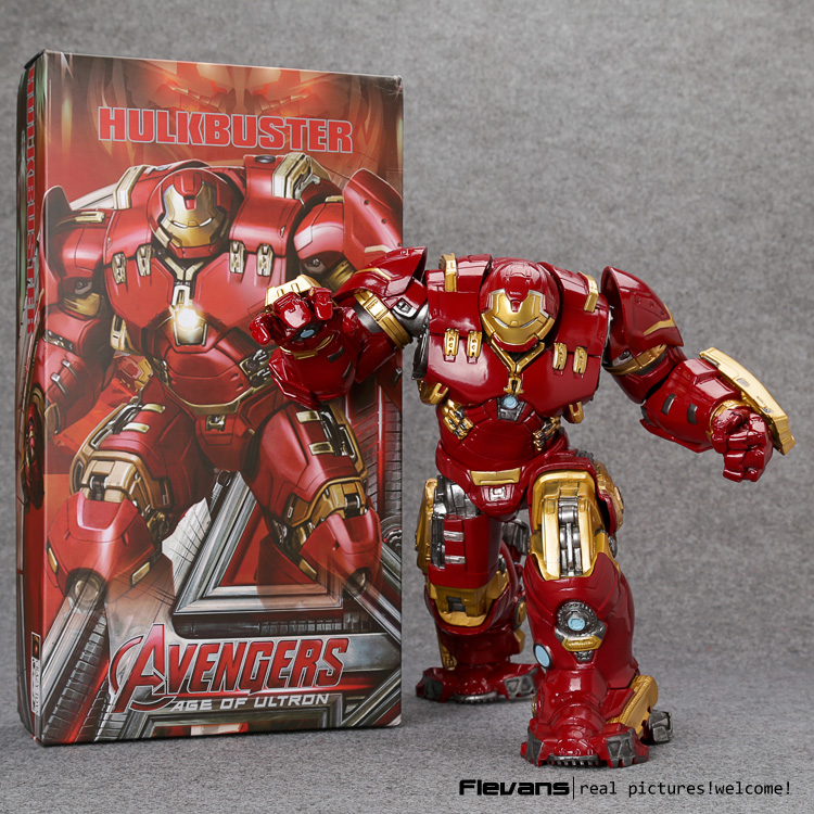 """미친 장난감 avengers hulkbuster 마크 44 pvc 액션 피규어 소장 모델 장난감 10 """"26 cm hrfg485-에서액션 & 장난감 숫자부터 완구 & 취미 의  그룹 1"""