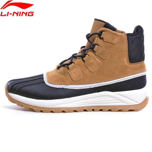 Li-Ning/трендовые ботинки на утином пуху, высокая прогулочная обувь, Нескользящие теплые зимние кроссовки для отдыха, спортивная обувь, AGCN317 YXB259