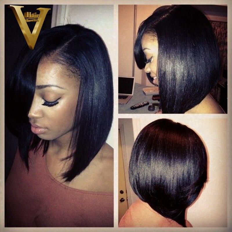 8 16 Short Bob Hair Brazilian Hair Full Lace Human Hair Wigs For