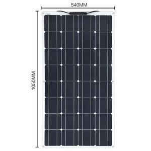 Image 4 - XINPUGUANG 100 واط 18 فولت أو 16 فولت مرنة خلية لوحية شمسية 100 واط وحدة أحادية البلورية sunpower الطلاء الشمسية 12 فولت شاحن بطارية