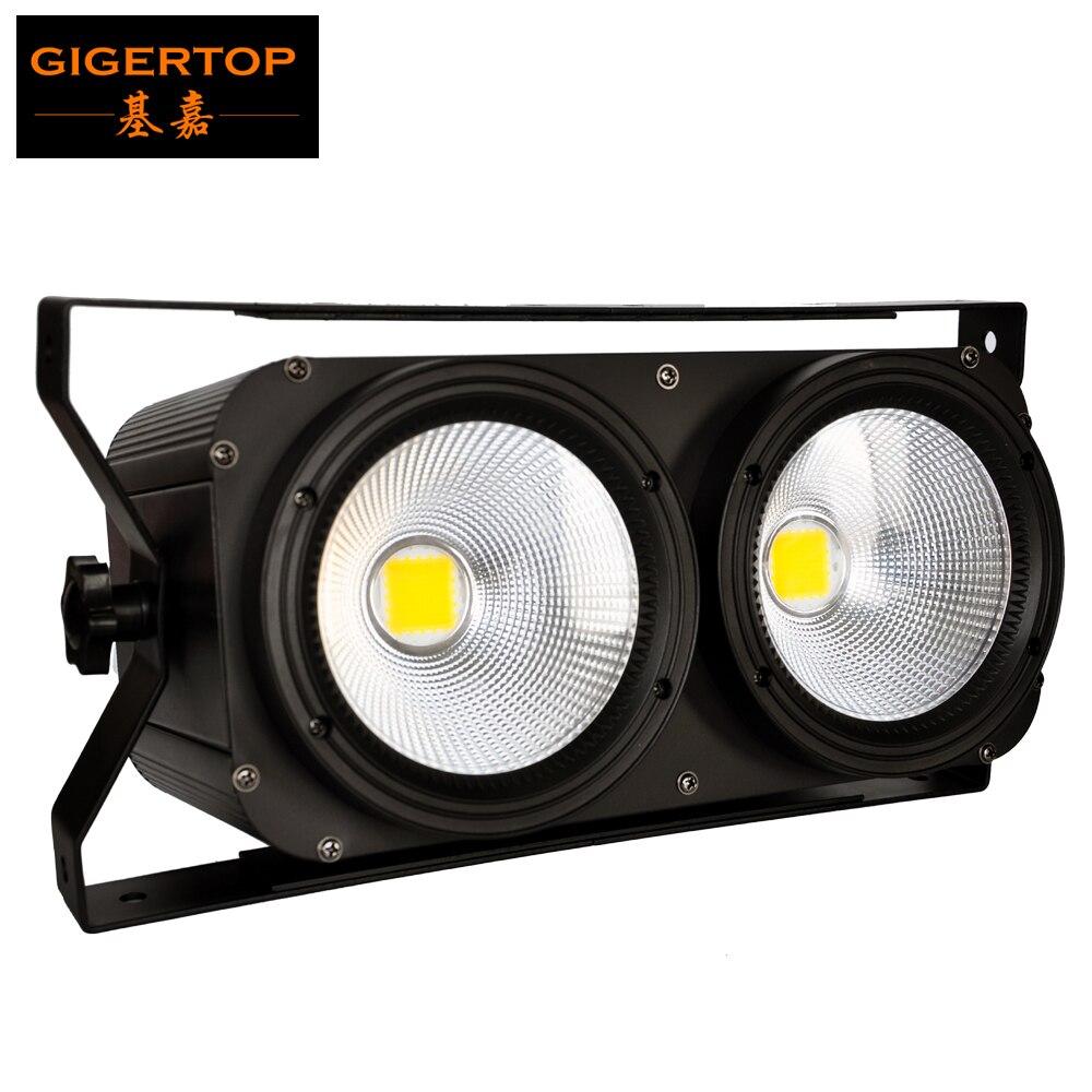 Gigertop COB LED BLINDER 2(B) Led Audience Blinder Light 25 Degree Beam Fan Cooling COB Professional Stage DJ KTV Par Projector 2units 100w 2 led cob blinder audience light