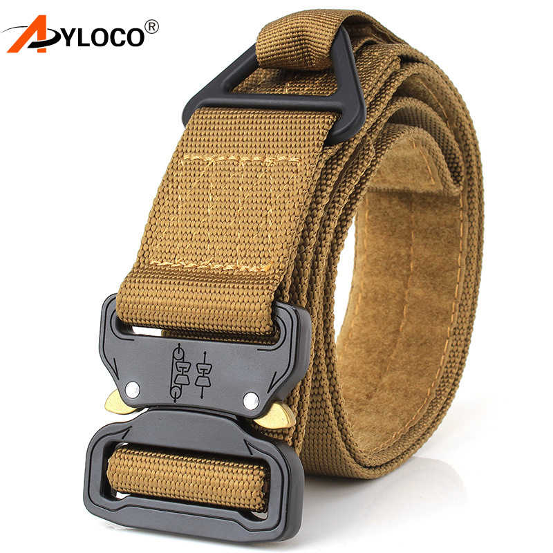 AYLOCO Tactical Hunting Accessories Army CS Tactical Gear Heavy Duty Belt Nylon Metal Buckle Molle Padded Patrol Hunting Waist