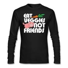 """""""Eat Veggies – NOT friends"""" longsleeve shirt"""