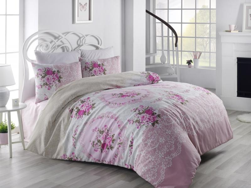 Bedding Set double-euro KARNA, RANFORCE, ARVEN, pink tempo 1 workbook cd rom