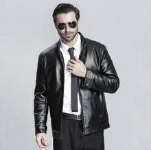2016 NEW Leather Jackets Men Thickening Warm Windbreak Men Coats Winter Warm Jacket Men's Fashion Luxury Leather Mens Fur Coat
