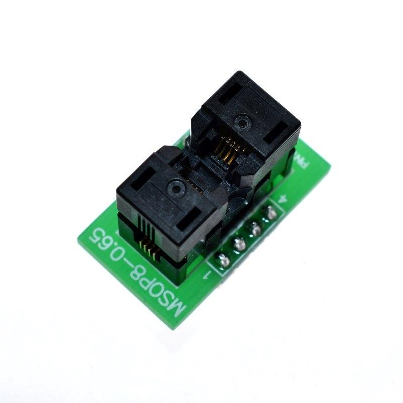 Msop8 para dip8 mcu teste ic soquete programador adaptador soquete