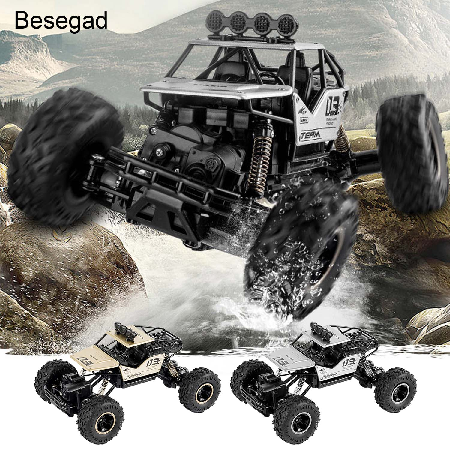 1:16 Scale High Speed Remote Control Electric Fast Racing Off Road Crawler Truck Vehicle RC Car Toy Kids Boys Christmas Gifts