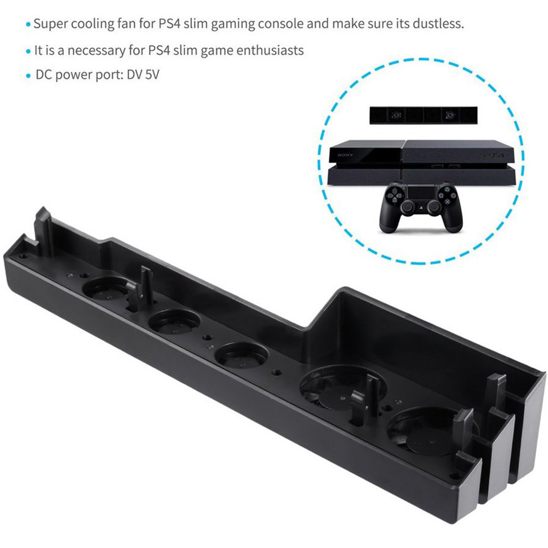 For PS4 Pro Cooling Fan USB External 5-Fan Super Turbo Temperature Cooling Fan for Playstation 4 Pro PS4 Pro Gaming Console