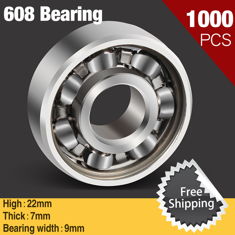 1000pcs Spinner 608 Bearing For Unique Fidget Finger Spinner Triangle Miniature Rotating Luxury Toys EDC Hand Spinners Toy 2017 batman finger spinner stainless steel bearing handspinner toys copper fidget toy for autism adhd anxiety stress toys gift