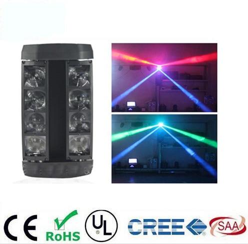 Mini LED Spider 8x6W RGBW Beam Light Good Quality Fast Shipping DJ mini Moving Head Light pinko кардиган
