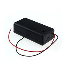 1pcs 9V Battery Storage Case Plastic Box Holder With Lead ON/OFF Switch_KXL0728(China)