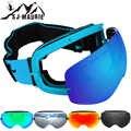 Masculino feminino snowboard óculos destacáveis anti nevoeiro uv esqui eyewear neve montanhismo óculos herba