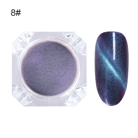 6 Boxes 3D Cat Eye Effect Magic Mirror Nail Glitter Magnetic Powder Nail Art Chrome Pigment Dust UV Gel Manicure DIY Decor Multan
