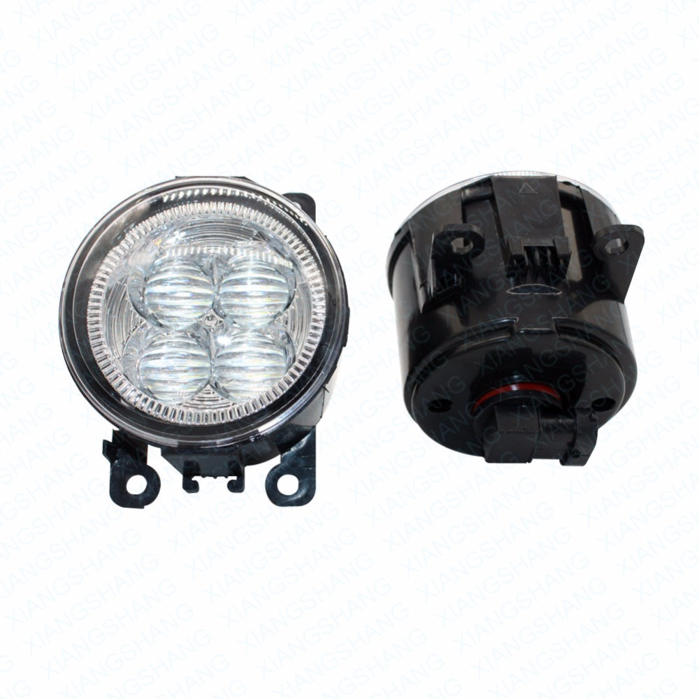LED Front Fog Lights For Renault MEGANE 2 Estate KM0 KM1 2003-2015 Car Styling Bumper High Brightness DRL Driving fog lamps 1set led front fog lights for renault laguna 3 grandtour kt0 kt1 estate car styling bumper high brightness drl driving fog lamps 1set