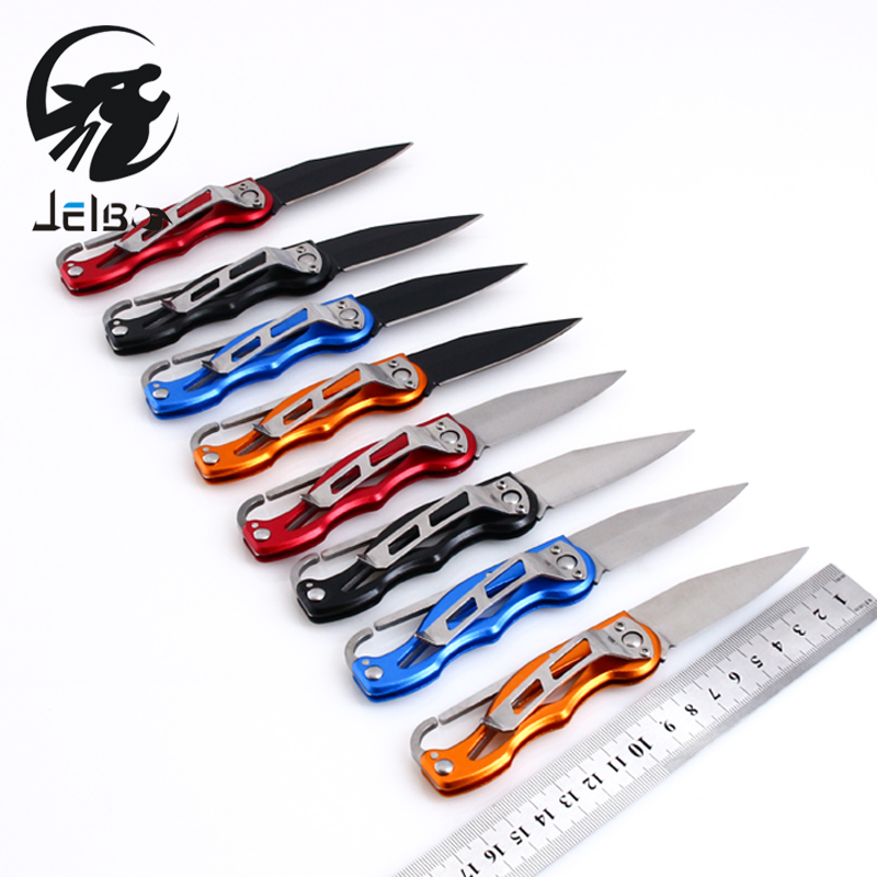 Jelbo Sharp Pocket Knife Army Knife Mini Peeler Outdoor Survival Tool for Camping Hunting Tactical Rescue