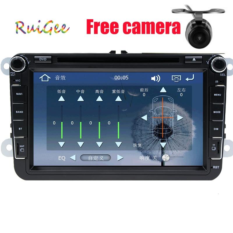 Lecteur DVD de voiture 2DIN 7 ''VW Golf V passat bora turan dvd avec écran tactile GPS, commande au volant, stéréo, radio, usb, BT