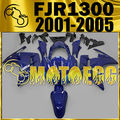 Motoegg ABS Fairing Fit FJR1300 2001-2005 01-05 Aftermarket Dark Blue Y13M15 Motorcycle ABS plastic
