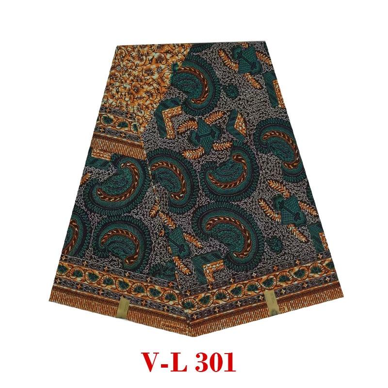 2020 african wax prints fabric wax Batik veritable dutch real wax 100% cotton real Batik block V-L 301