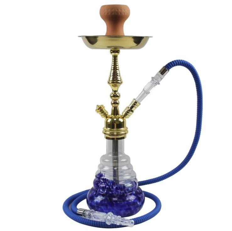 Narguilé en verre Shisha fumer Shishas tuyau d'eau à distance multicolore Style russe ensemble complet tabac pour narguilé bol Chicha