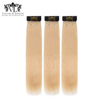 VL 3 Bundles Straight Hair Lightest Blonde Hair Weave 100% Remy Hair Extensions Human Hair Bundles With Free Shipping #613