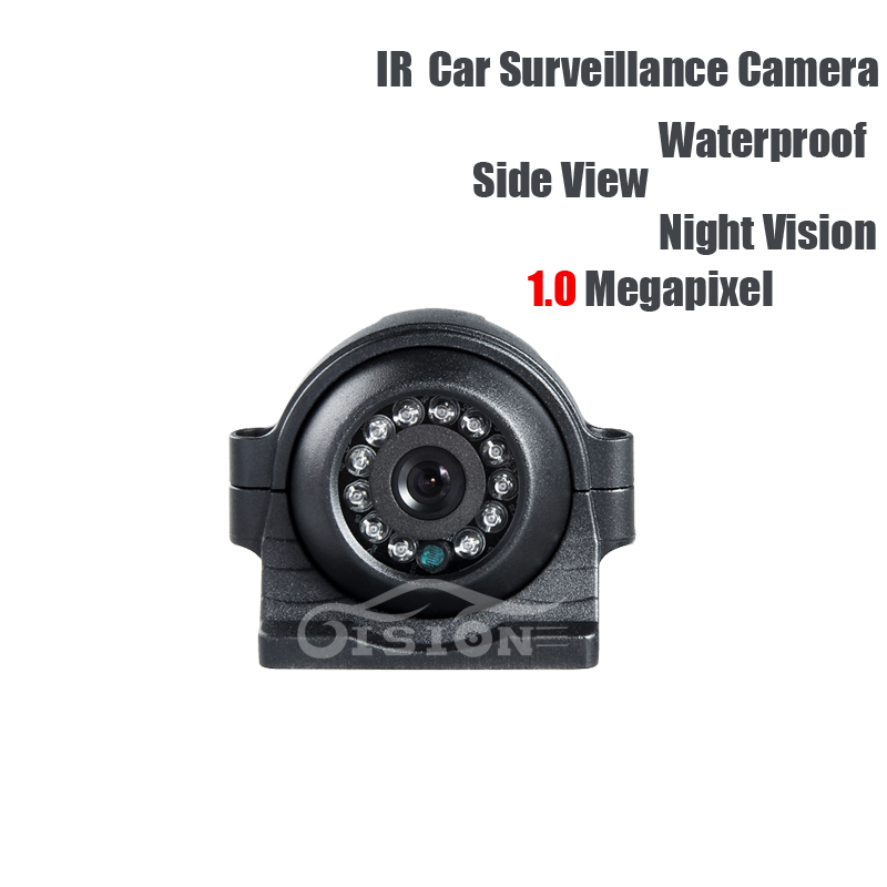 AHD 1.0MP School Bus Truck Side View Camera Left/right Waterproof IR Night Vision CCD Camera for Vehicle Lorry Vans Surveillance ahd 1 0mp dual cam ir night vision waterproof rear view parking backup reversing camera for vehicle truck bus vans surveillance