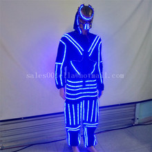 Hot Sale Led Luminous Costume Clothes With Mask For Dancing LED Growing Lighting Robot Suits Clothing Men Event Party Supplies