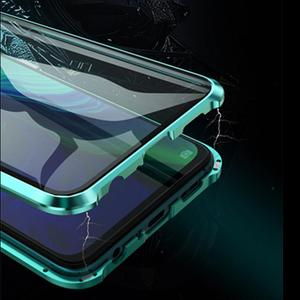 Image 2 - Luxury Magnetic Metal Bumper Case For OPPO Reno F11 V15 Pro R17 Cover Double Sided Glass Full Body Case For OPPO Reno 10X Zoom