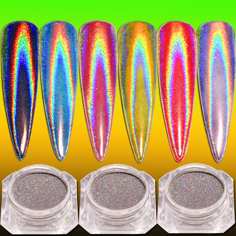 0 2g box Laser Mirror Glitter chrome nail powder For Nails UV Gel Decorations Dust Nail Art Glitter in Nail Glitter from Beauty Health